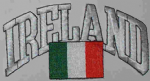 Ireland Embroidered Flag Patch, style 03.